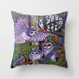 Sooty Owls Throw Pillow
