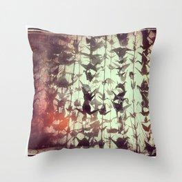 Paper cranes take flight Throw Pillow
