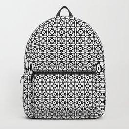Black And White Wallpaper Thai Pattern Backpack