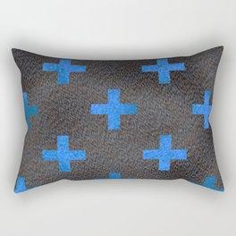Black and Blue Cross Rectangular Pillow