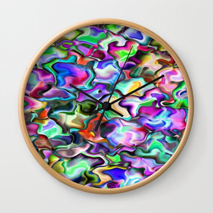 unusual abstract art design background Wall Clock