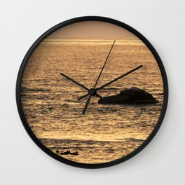 Golden Hour on the Sea Wall Clock