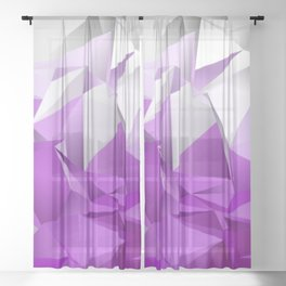 Abstract Low-Poly background. triangulated texture. Design 3d. Polygonal geometrical pattern. Triang Sheer Curtain