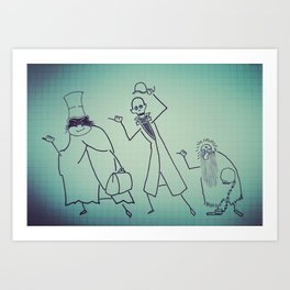 Ghosts That Hitchhike Art Print