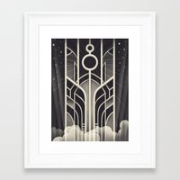 stargate Framed Art Prints featuring DECO STARGATE by ChrisBrindley