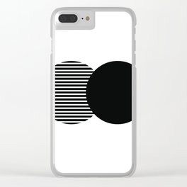 Line Artwork, Line Poster, Wall Hanging, Geometry Art, Minimalist Black and White, Abstract Print Clear iPhone Case
