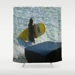 Little Surfer Girl Shower Curtain