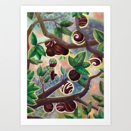 Cocoa trade Art Print