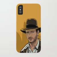 indiana iPhone & iPod Cases featuring Indiana by Akyanyme