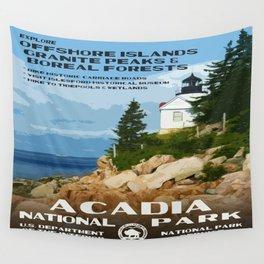 Vintage poster - Acadia National Park Wandbehang