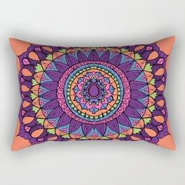 Groovy Dayglo Boho Mandala Rectangular Pillow