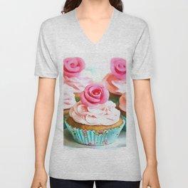 Romantic Cupcakes Unisex V-Neck