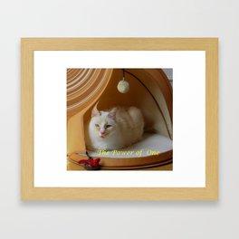 My cat is my zen master Framed Art Print