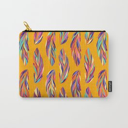 EXOTIC BIRD FEATHERS 02, hot yellow Carry-All Pouch