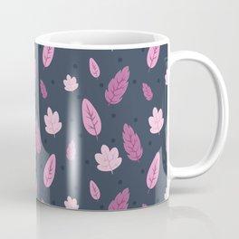 Falling Leaves in Pink Coffee Mug