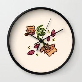 Raccoons Wall Clock