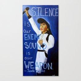 Silence & Sound  Canvas Print