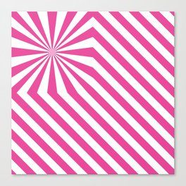 Stripes explosion - Pink Canvas Print