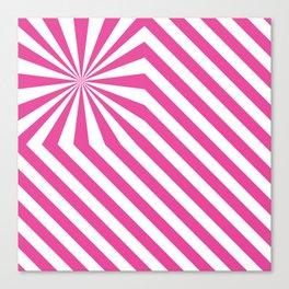 Stripes explosion - Pink Canvas Print