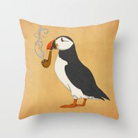 ariana grande Throw Pillows featuring Puffin' by Megs stuff...