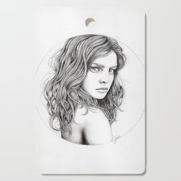 JennyMannoArt Graphite drawing Cutting Board