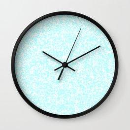 Tiny Spots - White and Celeste Cyan Wall Clock