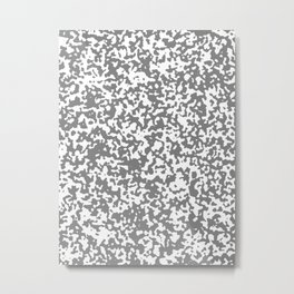 Small Spots - White and Gray Metal Print