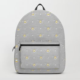 Bumblebee Stamp on Grey Backpack