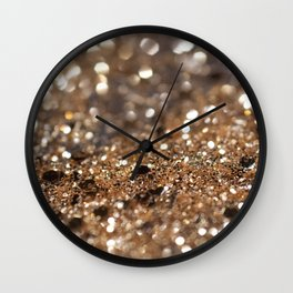 Gold Night Lady Glitter #1 #shiny #decor #art #society6 Wall Clock