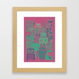 Pink Bots Framed Art Print