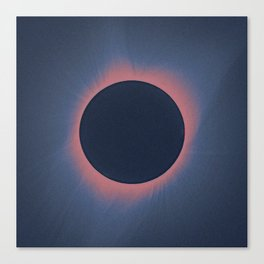 Solar eclipse, as seen above Madras, Oregon, U.S. by NASA  5 Canvas Print