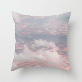 Cloud layers of Pink Throw Pillow