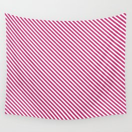 Pink Yarrow Stripe Wall Tapestry