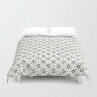 flower pattern Duvet Covers featuring Flower pattern by Yasmina Baggili
