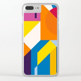 Abstract modern geometric background. Composition 9 Clear iPhone Case