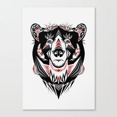 American Indian bear Canvas Print