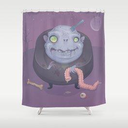 Blob Zombie Shower Curtain