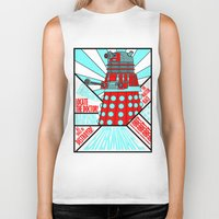 doctor who Biker Tanks featuring Doctor Who by Alli Vanes