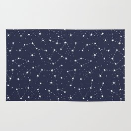 Constellations and stars. Cosmic space Rug
