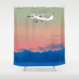 Prop plane Shower Curtain
