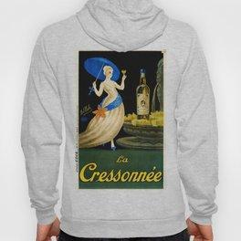 Vintage 1923 La Cressonnee Absinthe Advertisement Poster by Paul Mohr Hoody