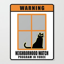 Neighborhood Watch Cat Canvas Print
