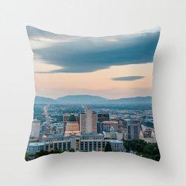Downtown SLC 04 Throw Pillow
