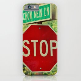 STOP - CHOW MEIN LANE iPhone Case