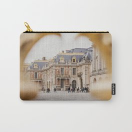 Chateau Versailles with it's amazing doors, photographed trough the gates, Paris | Beautiful French architecture | Travel photography  Fine art print Carry-All Pouch