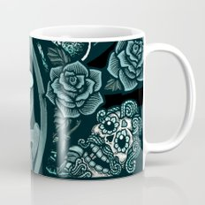 Blue Mermaid - Monochrome Mug
