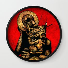 Red Demon Wall Clock