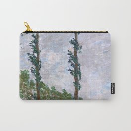 1891-Claude Monet-Wind Effect, Series of The Poplars-74 x 105-65 x 100 Carry-All Pouch