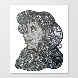Lace Tangle Canvas Print
