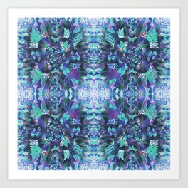 Abstract Floral Burst Art Print